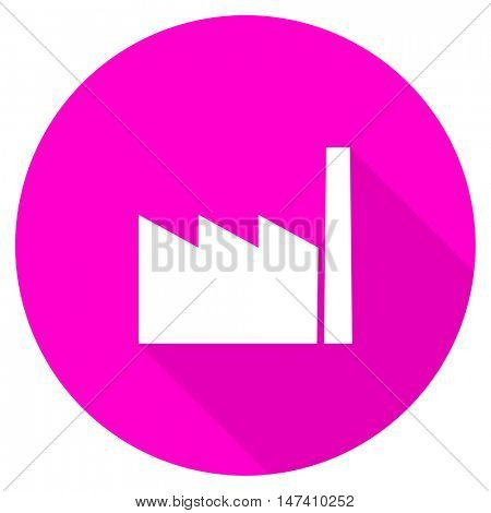 factory flat pink icon