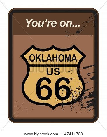 Grunge Route 66 sign or symbol, vector illustration