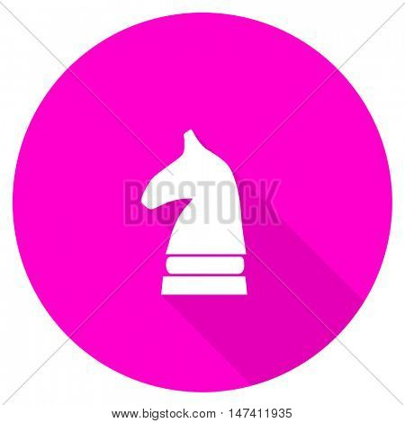 chess horse flat pink icon