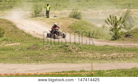 Dnepropetrovsk, Ukraine, May 22, 2016.Ukraine Motocross Championship in 2016