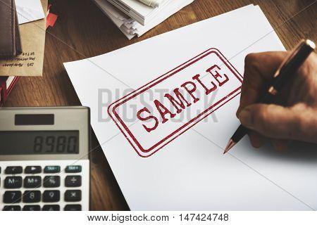 Sample Option Test Choosing Data Material Concept