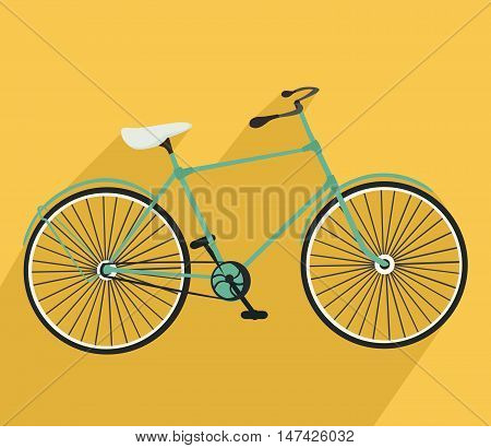 Bicycle icon. Detailed Bicycle icon solid and flat color design.