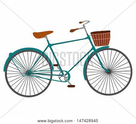 Vintage Retro Bicycle. Old classic bike Illustration Vector