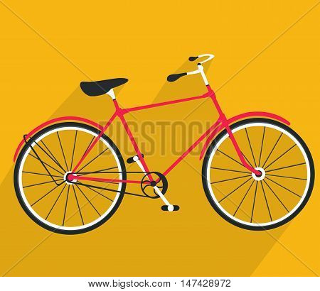Bicycle icon. Detailed Bicycle icon solid and flat color design cartoon vector illustration. Eps10. Isolated on a white background.