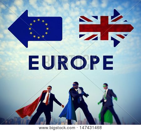 Brexit Britain Leave European Union Quit Referendum Concept