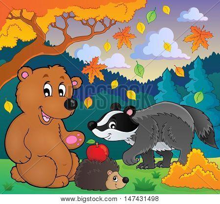 Forest wildlife theme image 4 - eps10 vector illustration.