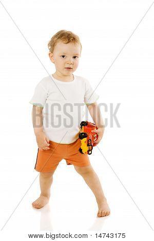 Boy Holding Toy