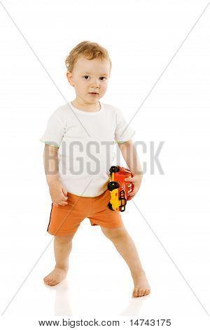 Boy Holding Toy