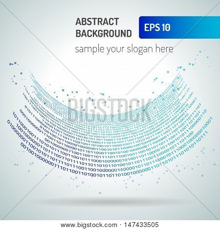 Digital code background abstract vector illustration. Binary computer code