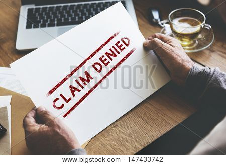 Delayed Banned Canceled Denied Stamp Label Mark Concept