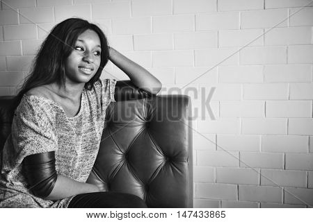 African Descent Casual Solitude Tranquil Leisure Concept