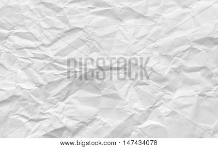 Background of crumpled white paper texture for your text