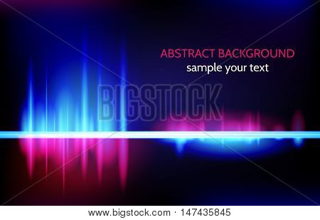 Line abstract shining background vector. Equalize effect