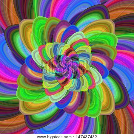 Multicolored computer generated floral fractal background art