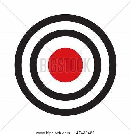 Darts target aim with red center isolated