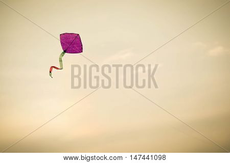 Close up of Traditional Bangladeshi kite flying in sky