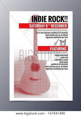 Vector Template For A Concert Poster  And  Music Party Flyer