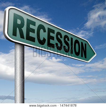 recession  in world economy crisis bank and stock crash economic and financial bank recession market crash   3D illustration