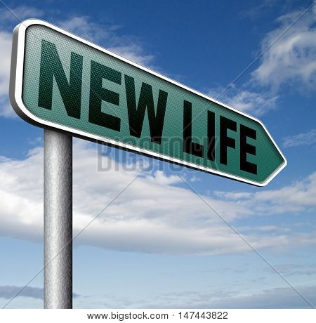 new life road to fresh begin new start sign 3D illustration