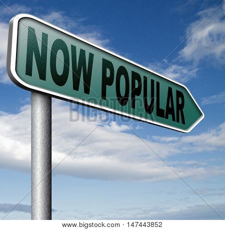 now popular lastest fashion trend trending product or activity road sign arrow 3D illustration