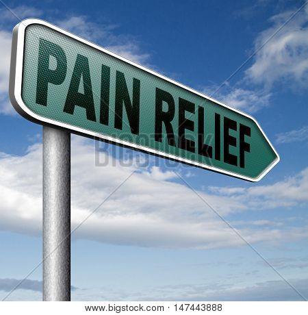 pain relief and management by painkiller for back pain or migraine 3D illustration