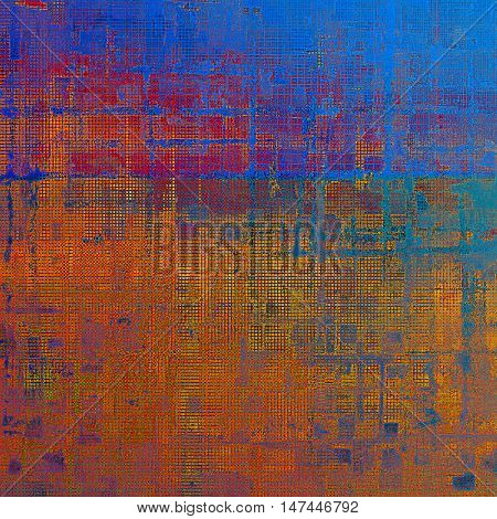 Vintage old-style texture, worn and rough grunge background with different color patterns: yellow (beige); brown; blue; red (orange); purple (violet); pink