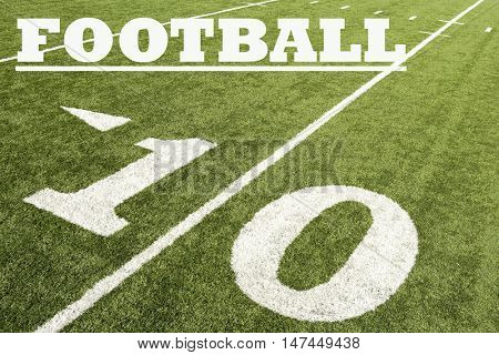 Ten Yard Line with text saying football