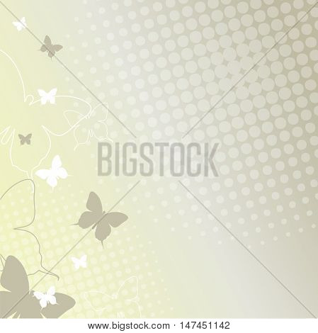 Butterflies - background template with copy space. For presentations, web backgrounds, covers