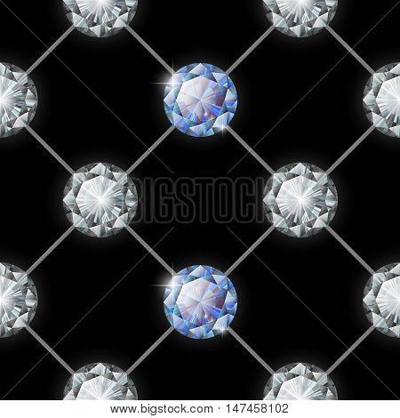 Glamour fashion seamless diamond pattern. Vector illustration.