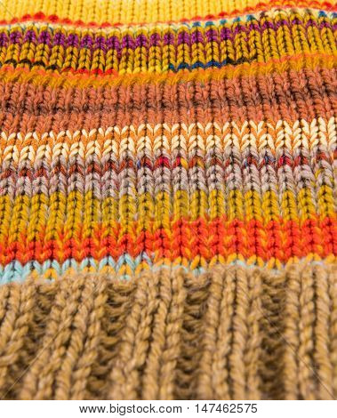 striped colorful wool texture handmade patten closeup macro blue red yellow pink purple orange beige brown
