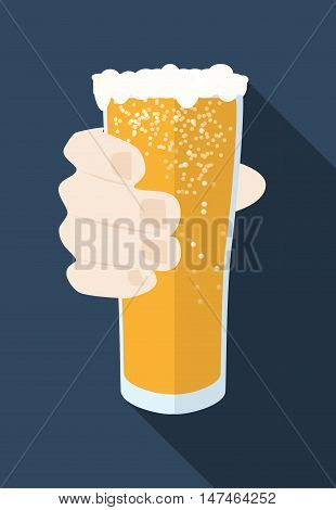 Beer Mug with foam Vector Icon could be used as Oktoberfest symbol, pub sign, beer mark, beer mug logo, beer festival stamp, pub sticker, restaurant menu button etc. Get ready for Oktoberfest!