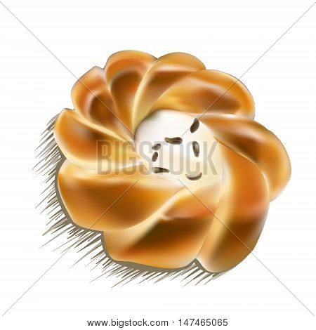 cheesecake with raisins vector  food, cream, cheese, wedge