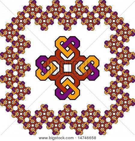 Celtic Cross frame - You can make seamless frames of any dimensions with this pattern- VECTOR