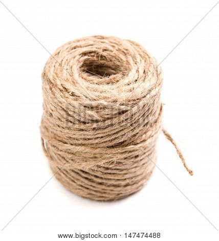 New spool of craft twine on a white background isolated