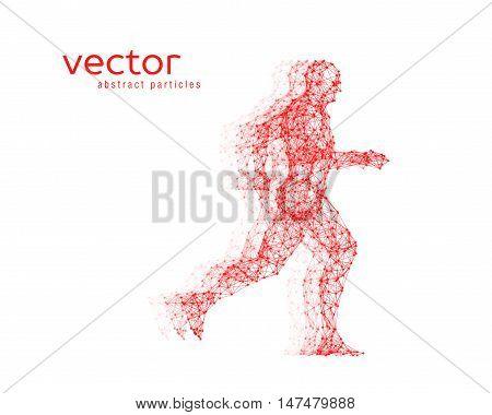 Abstract vector illustration of running man. EPS 10