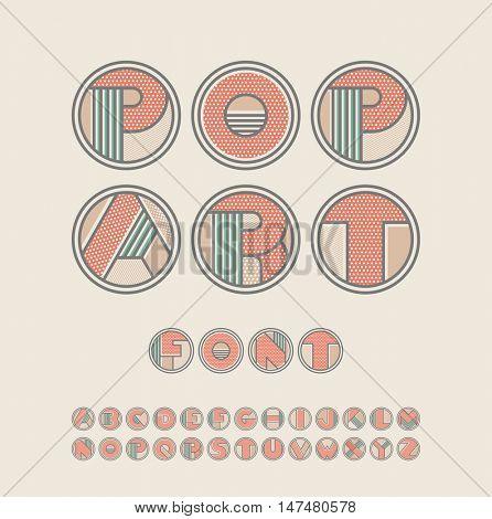 Pop art style font.