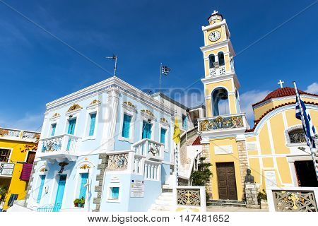 Karpathos island, Greece - October 10, 2015: In the mountains north part of Karpathos the village Olympos is called the most beautiful village of Greece.