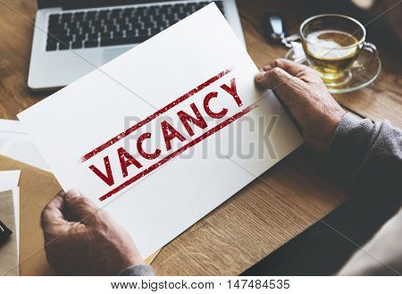 Vacancy Career Search Hotel Employment Work Concept