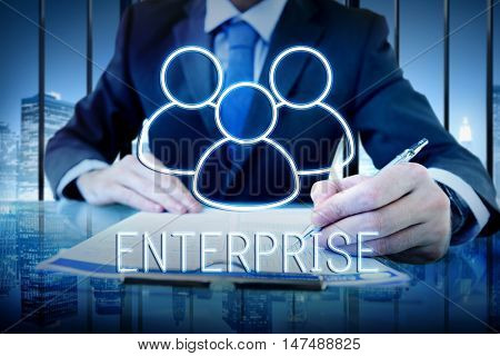 Enterprise Team Leadership Partnership Concept