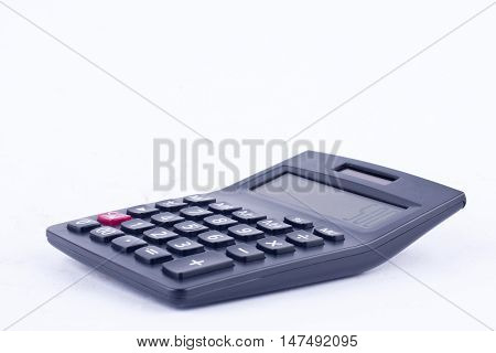 calculator for calculating the numbers accounting accountancy business  on white background isolated