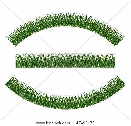Green grass icon. lawn plant nature and field theme. Isolated design. Vector illustration