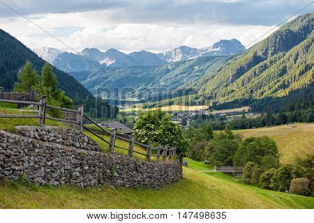 The Santa Maddalena Valley in the Dolomites Italy