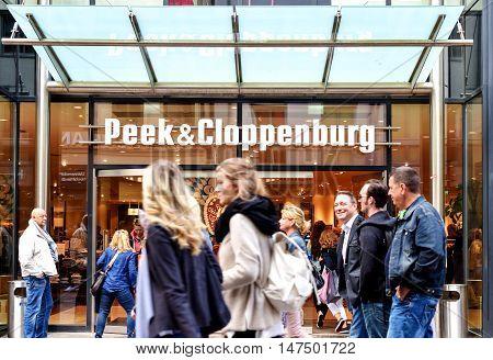 Rostock, Germany - August 22 2016 Peek Cloppenburg store in Rostock