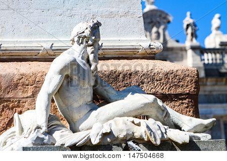 Monument Of Felipe Iv In Madrid