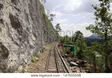 Death Railway Bangkok to Kanchanaburi Bridge Over The River Kwai  Death Railway in Kanchanaburi  riding train