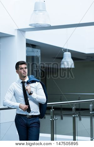 Sales Representative In An Office Building