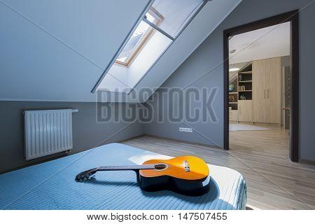 Room Of Guitar Musician