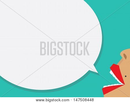 Lips with Bubble Speech, vector illustration eps10.