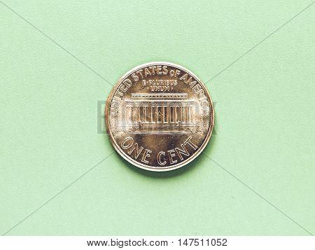 Vintage Dollar Coin - 1 Cent