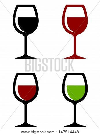 Glossy Wine Glasses Set